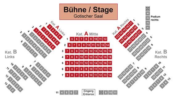 Sitzplan Gotischer Saal